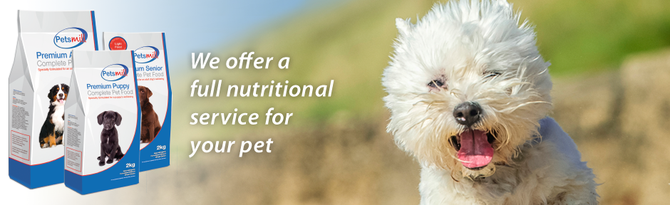 Petsmill: We offer a full nutritional service for your pet